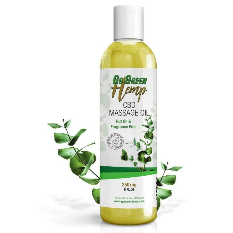 GOGREEN CBD MASSAGE OIL 250MG