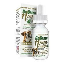 GOGREEN HEMP DOG & CAT OIL DROPS 250MG