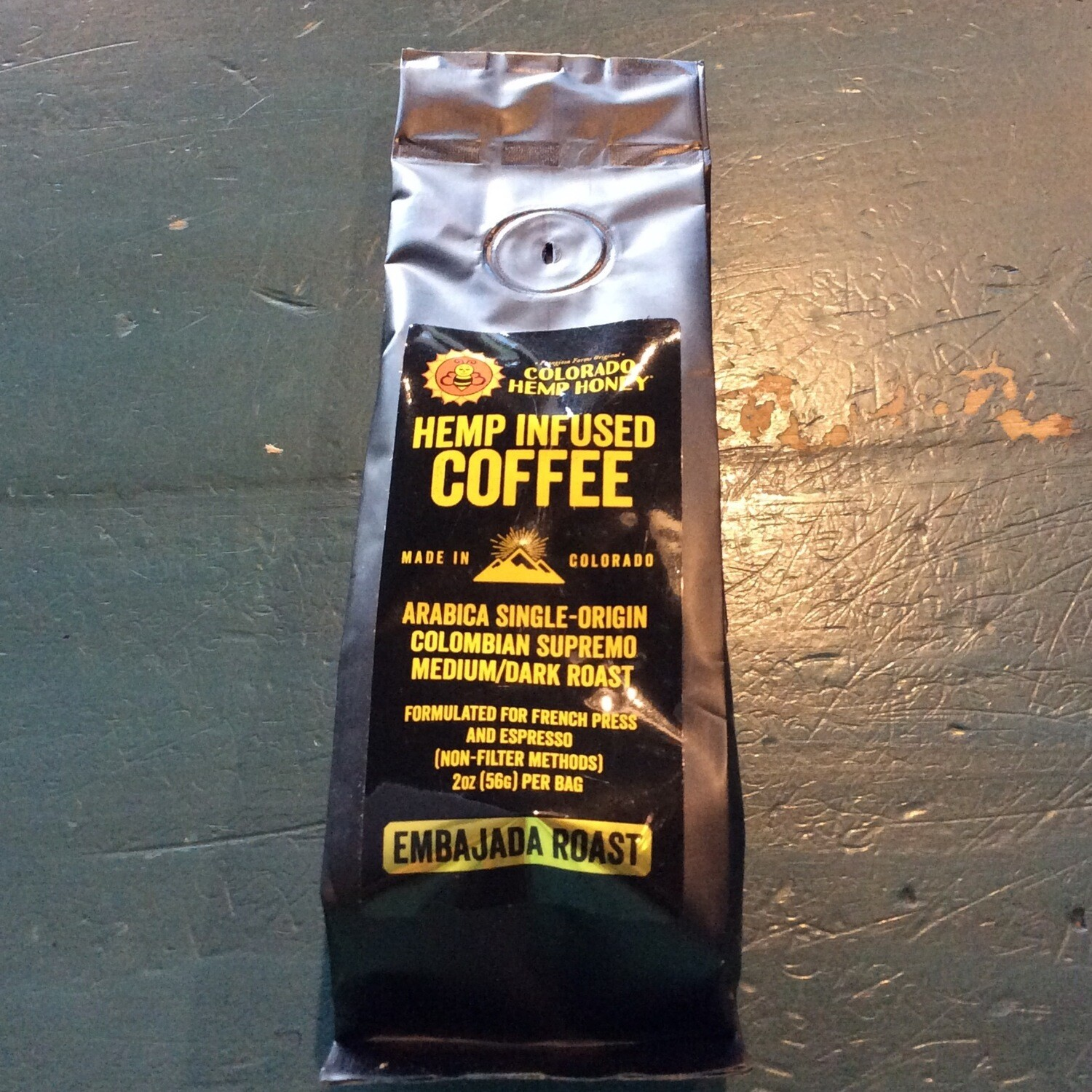 Colorado Hemp Coffe Beans/2onces