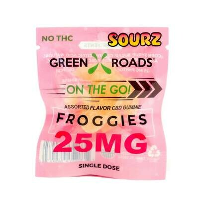 GREEN ROADS, 25MG SOUR FROGS ON THE GO