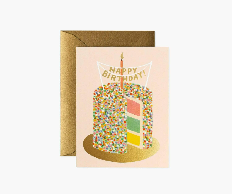 LAYER CAKE BIRTHDAY CARD