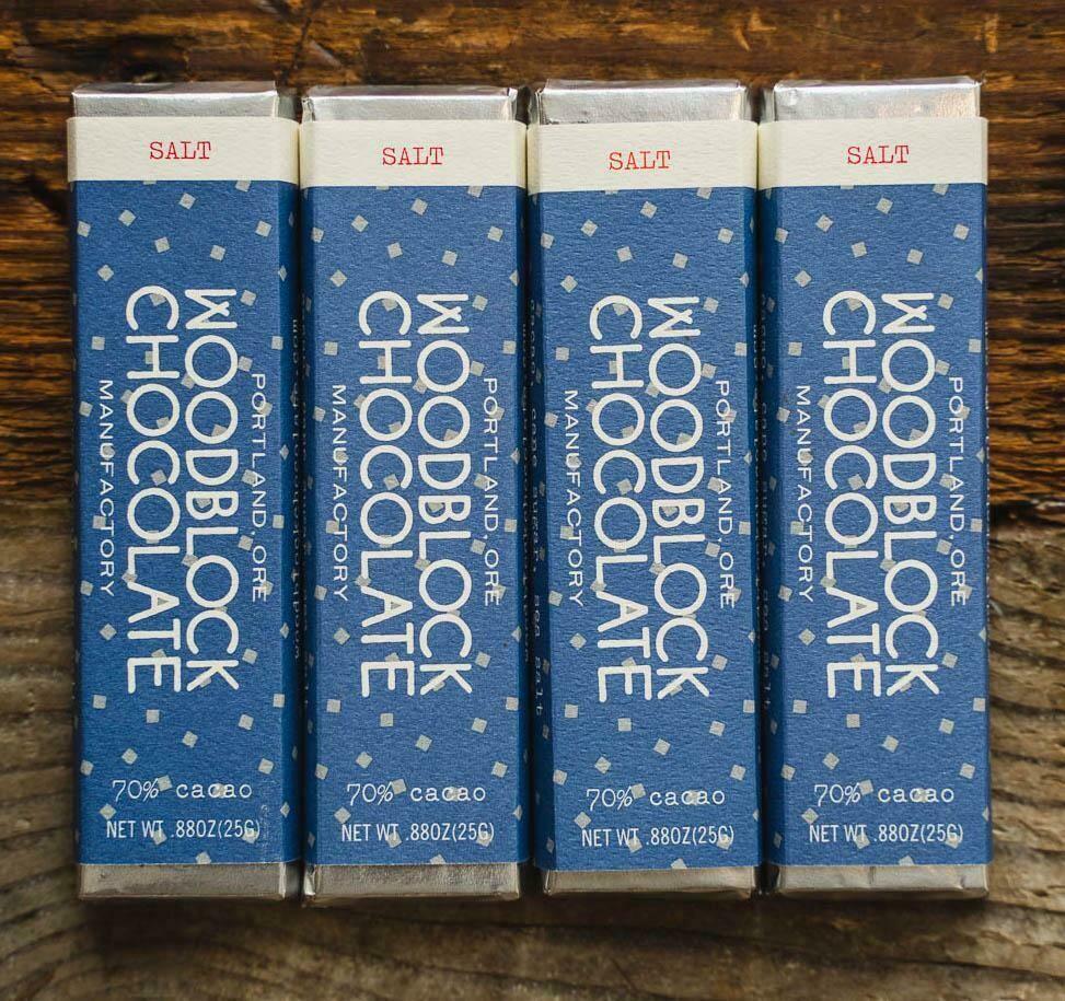 WOODBLOCK SALT CHOCOLATE BAR: TWO-PACK