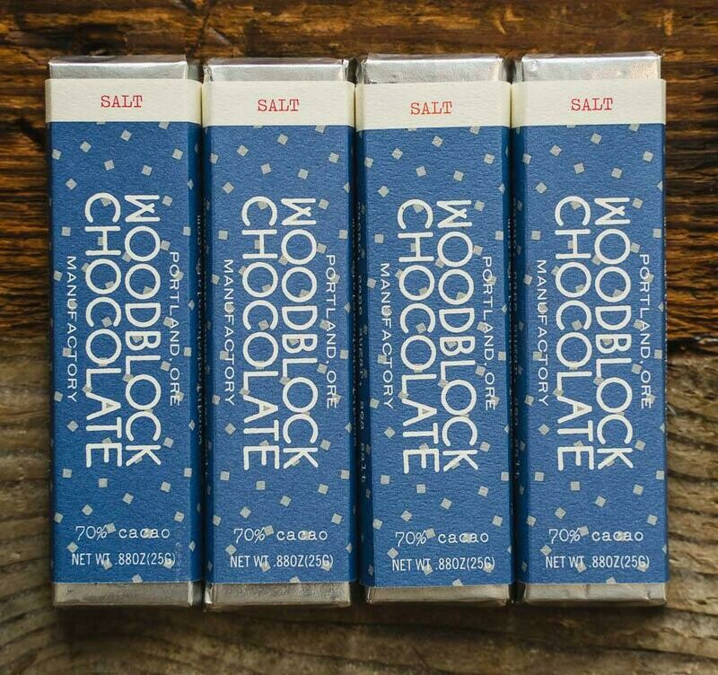 WOODBLOCK SALT CHOCOLATE BAR: TWO-PACK