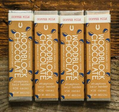 WOODBLOCK COFFEE MILK CHOCOLATE BAR: TWO-PACK
