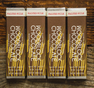 WOODBLOCK MALTED MILK CHOCOLATE BAR: TWO PACK