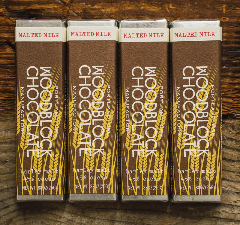WOODBLOCK MALTED MILK CHOCOLATE BAR: TWO-PACK
