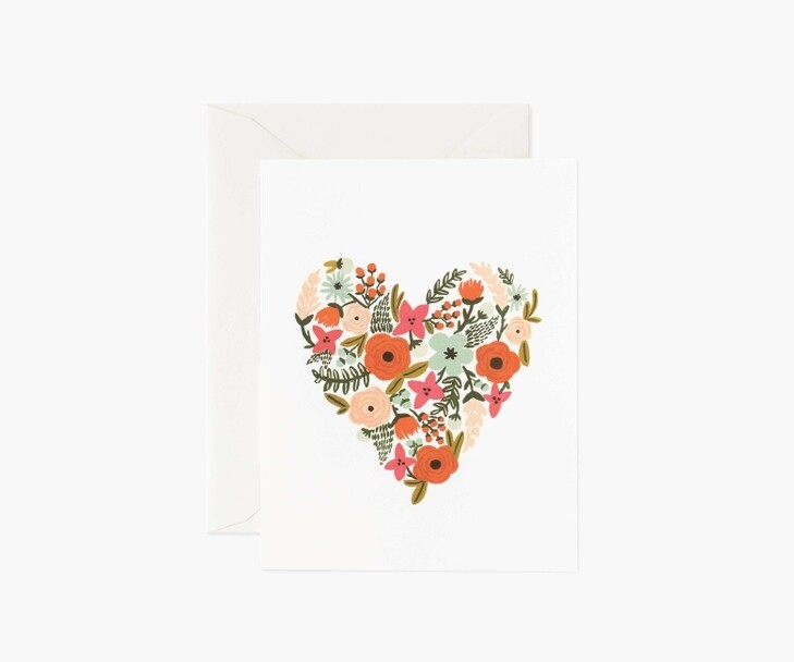 FLORAL HEART CARD