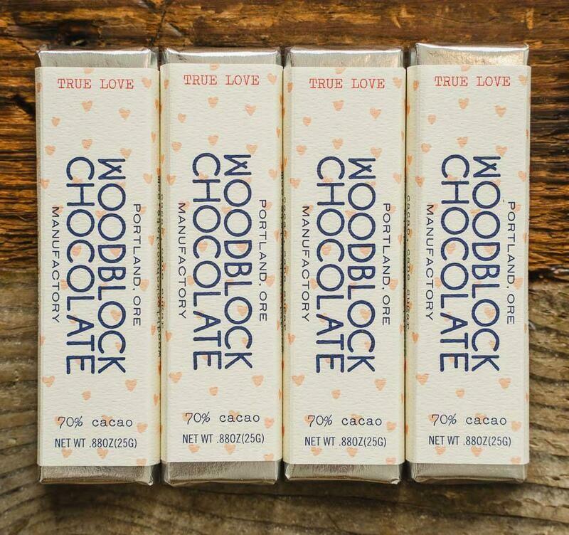 WOODBLOCK TRUE LOVE CHOCOLATE BAR: TWO-PACK