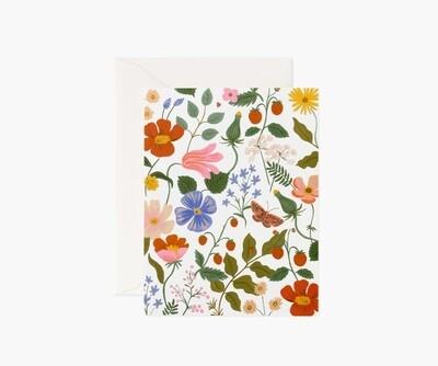 STRAWBERRY FIELDS CREAM CARD