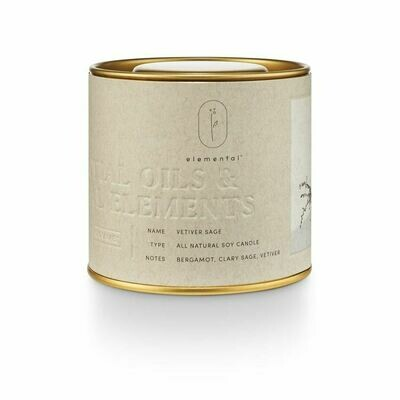 ILLUME TIN CANDLE: VETIVER SAGE