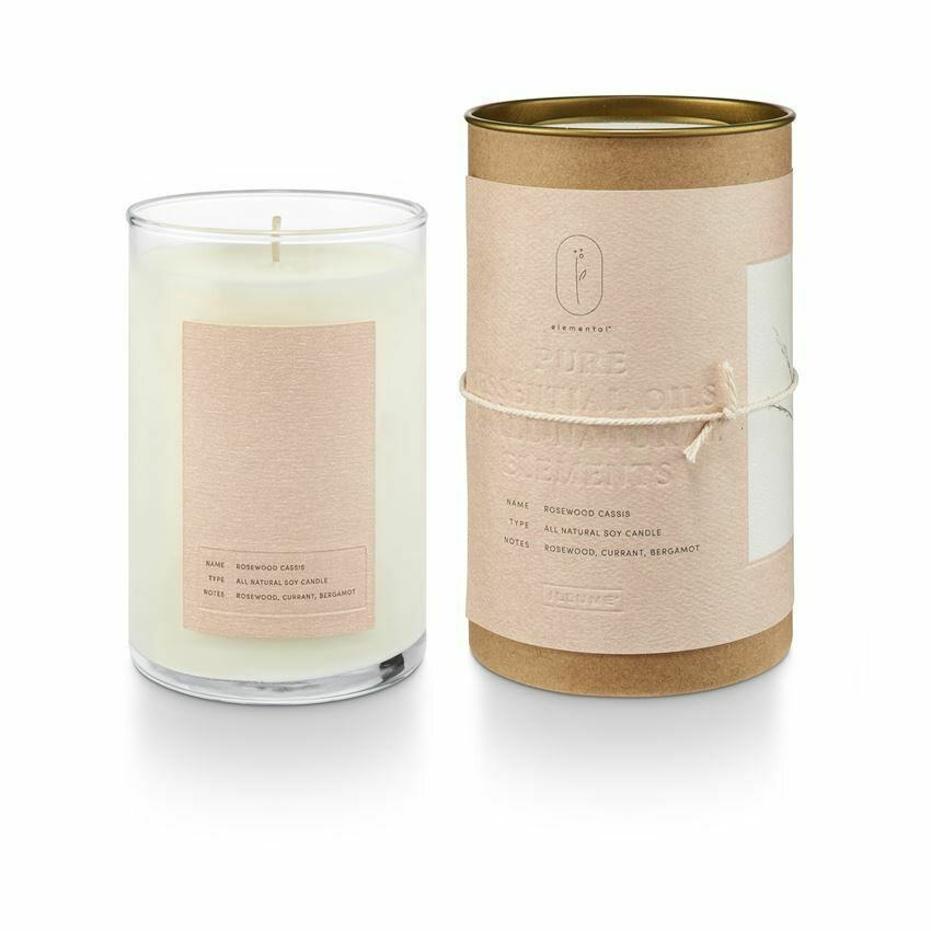 ILLUME GLASS CANDLE: ROSEWOOD CASSIS