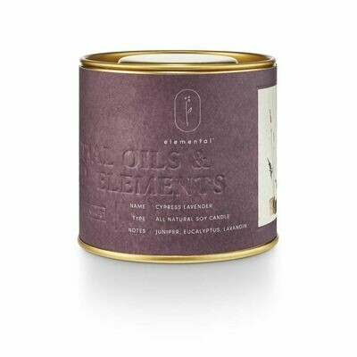 ILLUME TIN CANDLE: CYPRESS LAVENDER