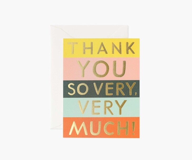 COLOR BLOCK THANK YOU CARD