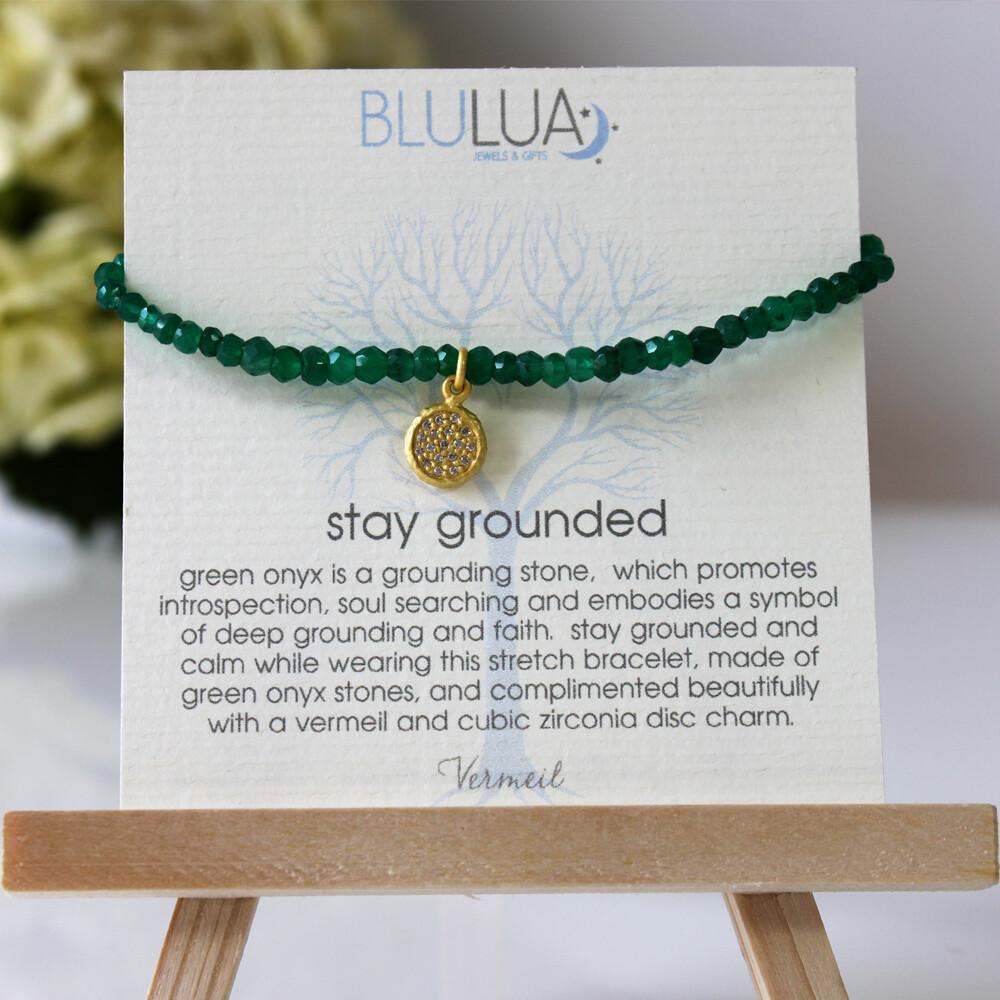 Green Onyx Stretch Bracelet