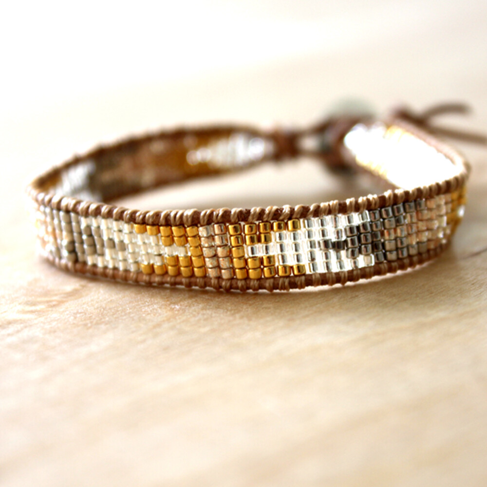 Tribal Goga Tri-Color Miyuki Seed Bracelet