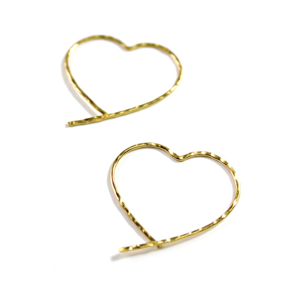 Vermeil Open Heart Earrings