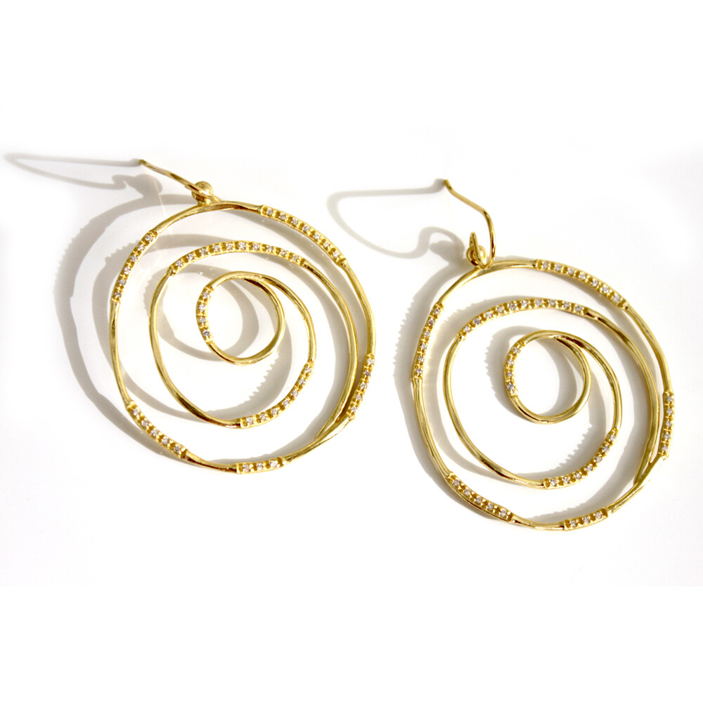 Vermeil Spiral Earrings