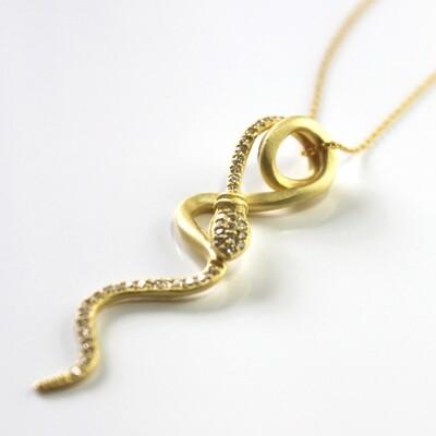 Vermeil Serpent Necklace