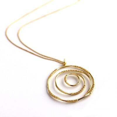 Vermeil Spiral Necklace