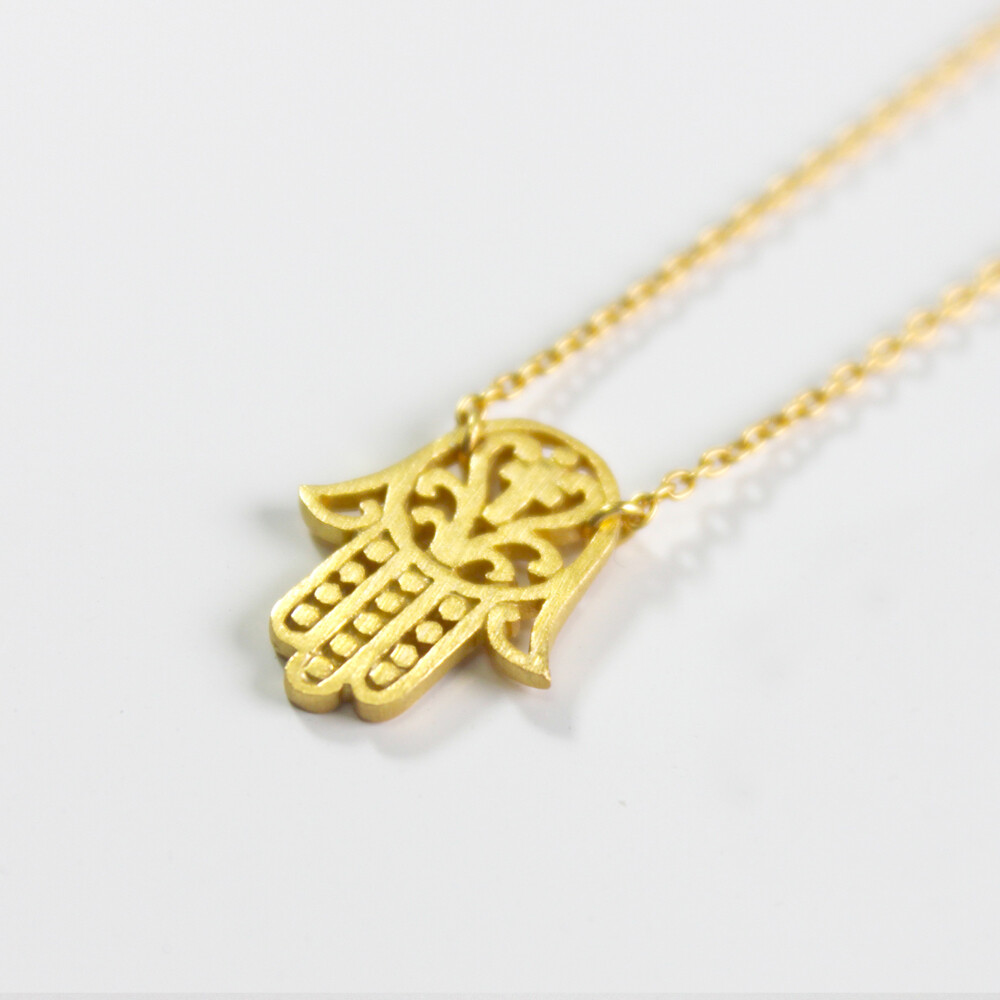 Vermeil Hamsa Protection Necklace