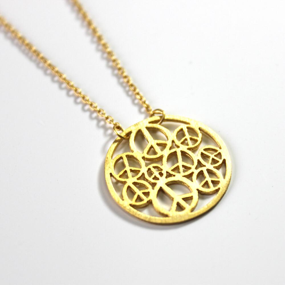 Vermeil Peace Circle Necklace