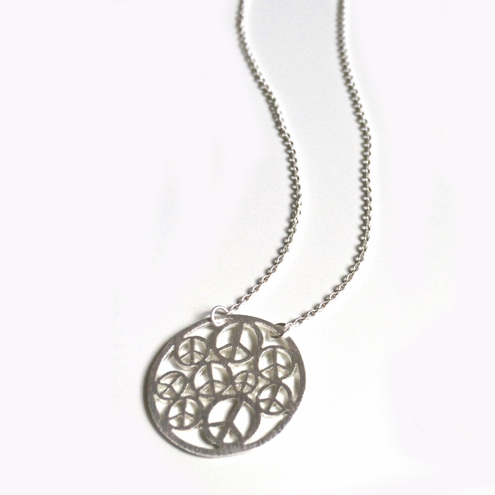 Sterling Silver Peace Circle Necklace