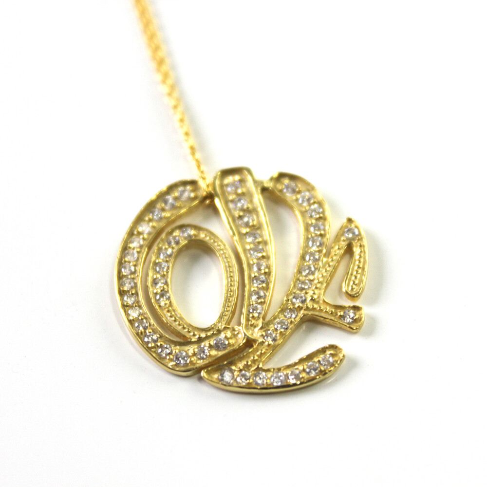 Vermeil Love Typography Necklace
