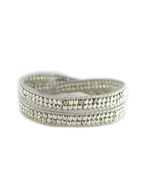 White Double Wrap Bracelet
