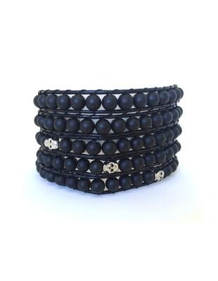 Men's Black Onyx Inner Strength Wrap Bracelet