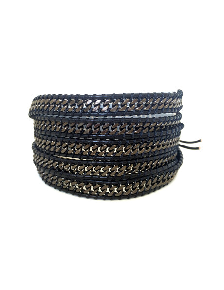 Men's Shadow Gunmetal Wrap Bracelet