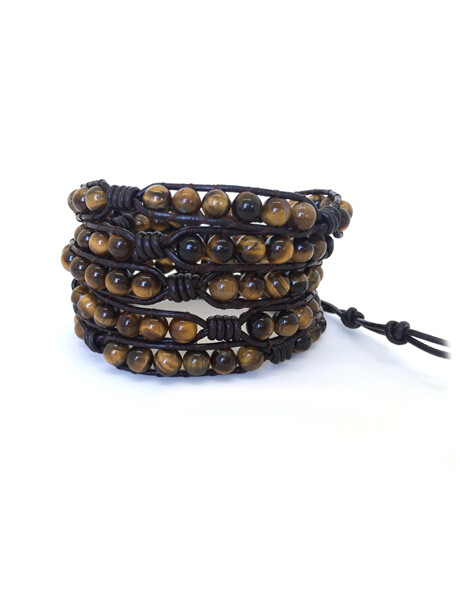 Men's Eye of The Tiger Wrap Bracelet