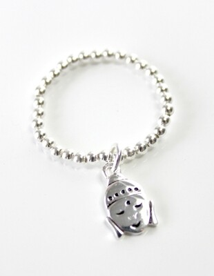 Sterling Silver Buddha Stretch Ring