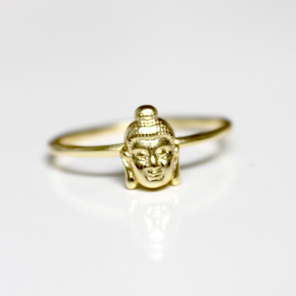 Vermeil Buddha Ring Size 7