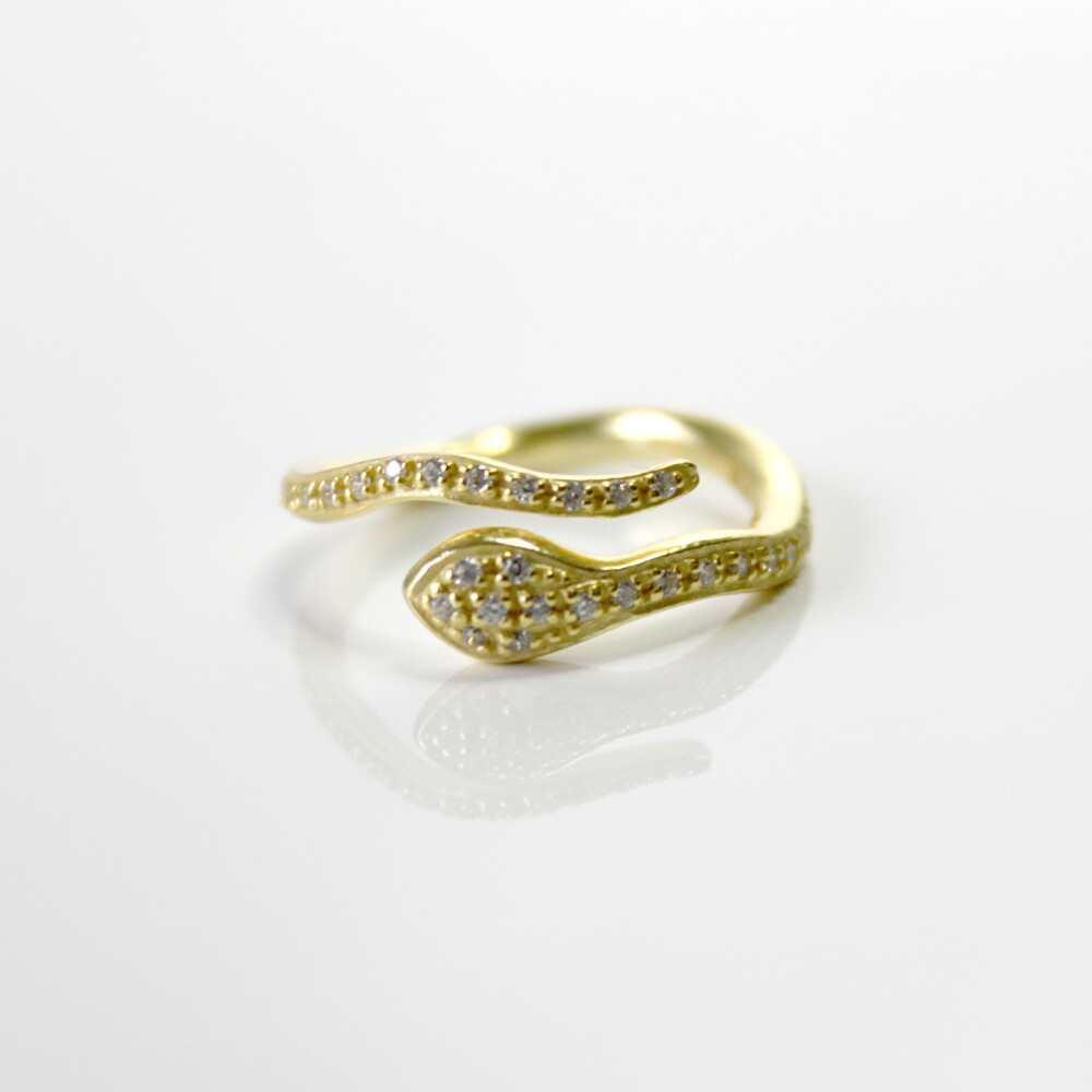 Vermeil Serpent Ring Size 7