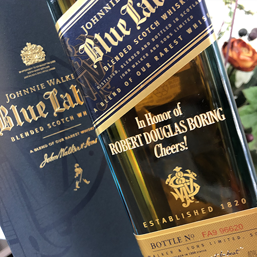Johnnie Walker Blue Label 750ml w/ FREE ENGRAVING- Please Read PRODUCT DETAILS