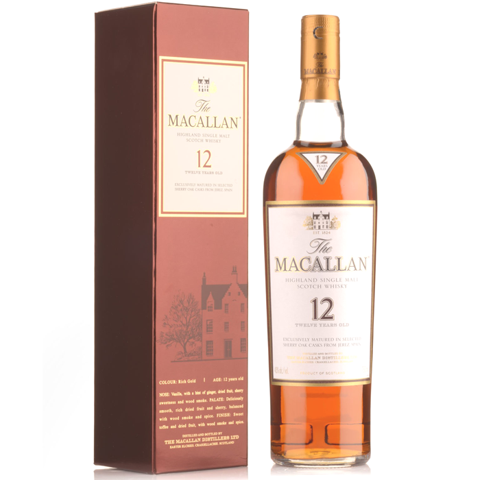 Macallan 12 Year Old Scotch Whisky 750ml 2508-12