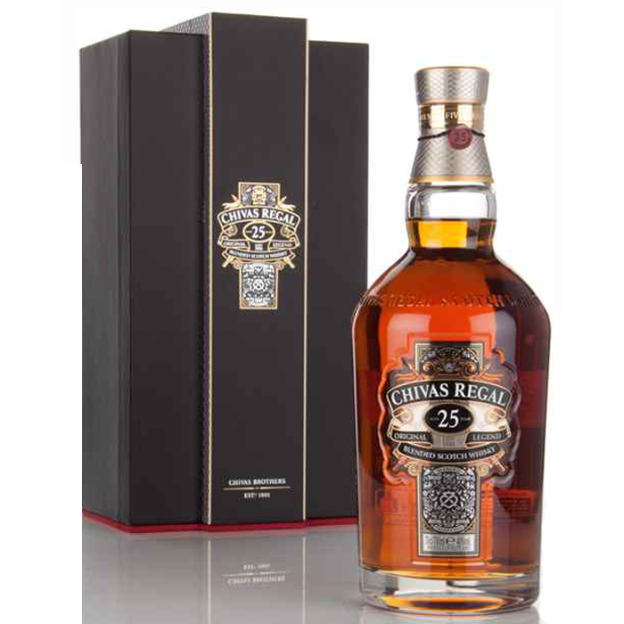 Chivas Regal 25 Year Old Blended Scotch Whisky 750ml 2510-25