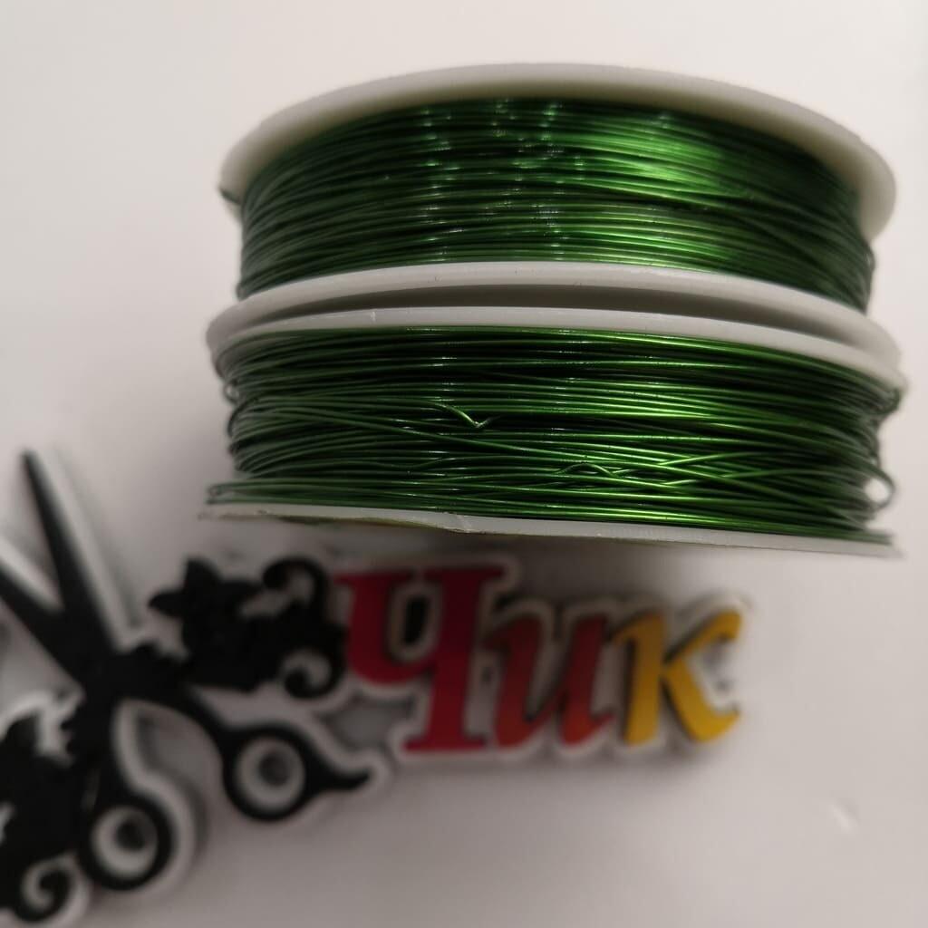 Проволока зеленая 0,5мм, длина 40м