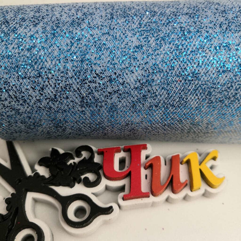 Фатин с блестками на шпульке (ширина 15 см) #3 (Нежно-голубой)