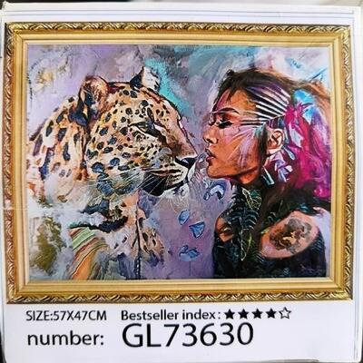 Алмазная мозаика без подрамника 50*40 см GL73630