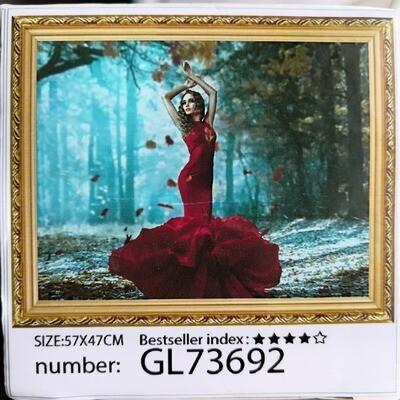 Алмазная мозаика без подрамника 50*40 см GL73692