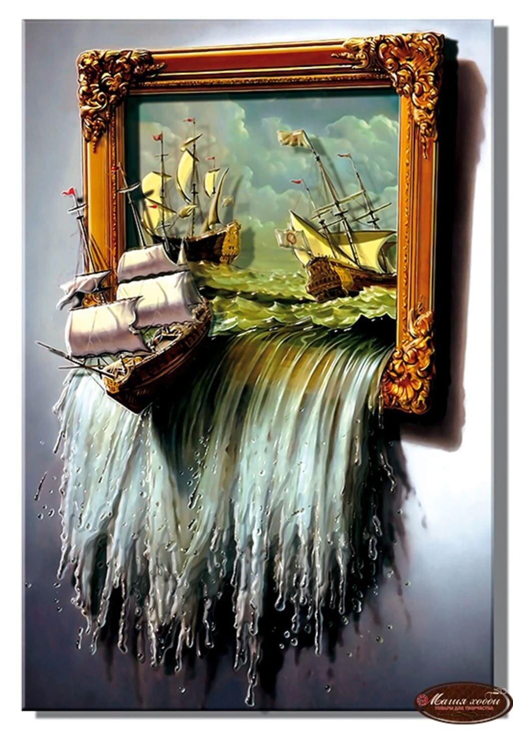 """Папертоль РТ150020 """"Море в картине"""" 20*29см."""