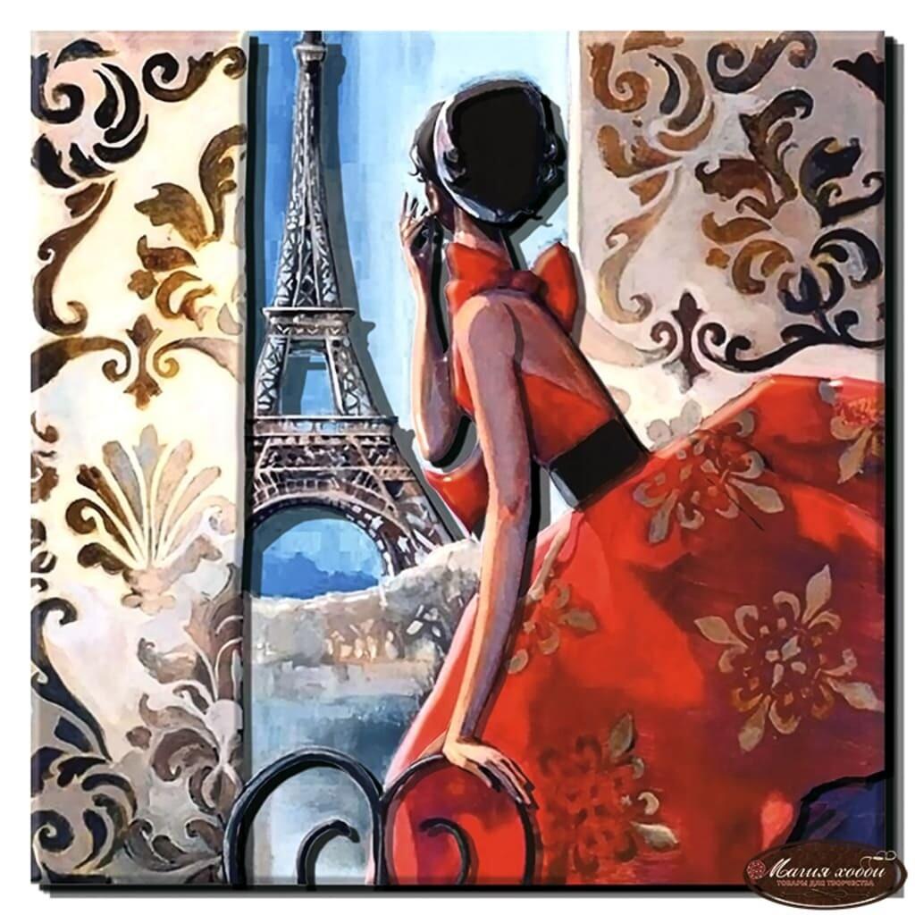 """Папертоль РТ150131 """"Окно в Париж"""" 28*28см."""