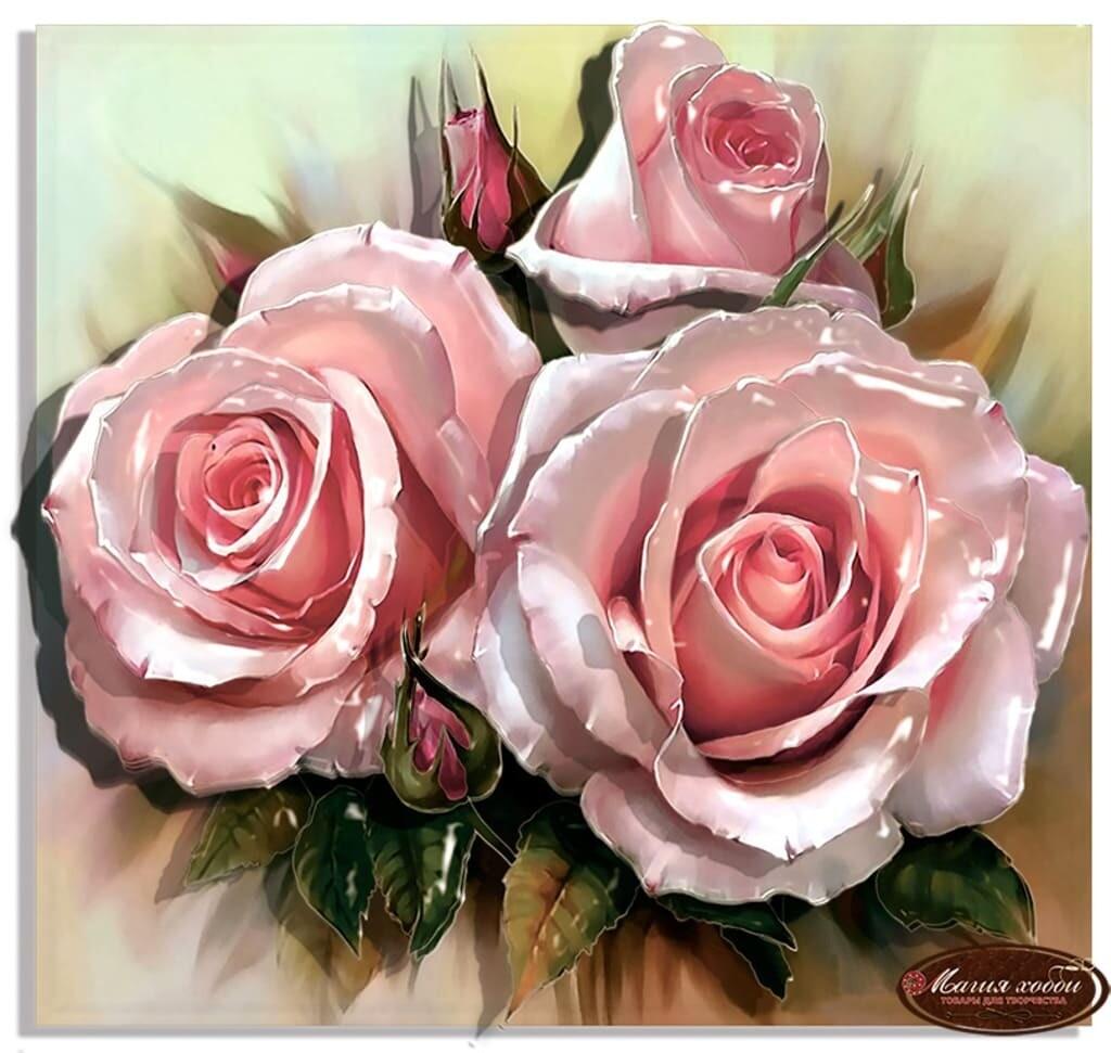 """Папертоль РТ150122 """"Королева цветов"""" 20*20см."""