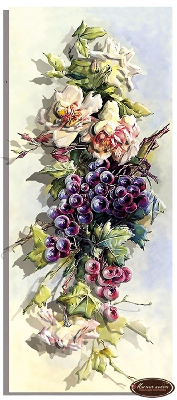 """Папертоль РТ150200 """"Розы и тёмный виноград""""  20*47см."""