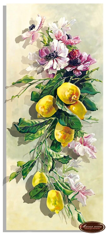"""Папертоль РТ150199 """"Анемоны и лимоны""""  20*47см."""
