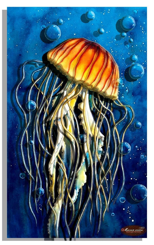 """Папертоль РТ150276 """"Красавица морей, медуза"""" 25*35см."""