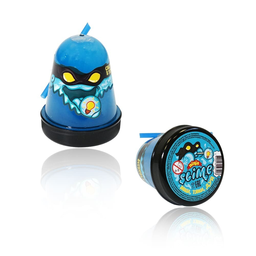 """Slime """"Ninja"""", Синий, светится в темноте 130 гр."""