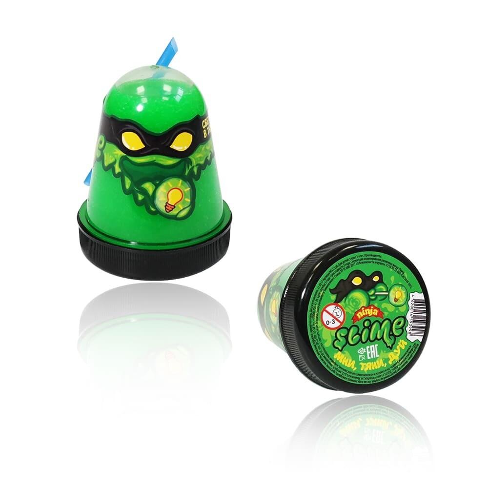 """Slime """"Ninja"""", Зеленый, светится в темноте 130 гр."""