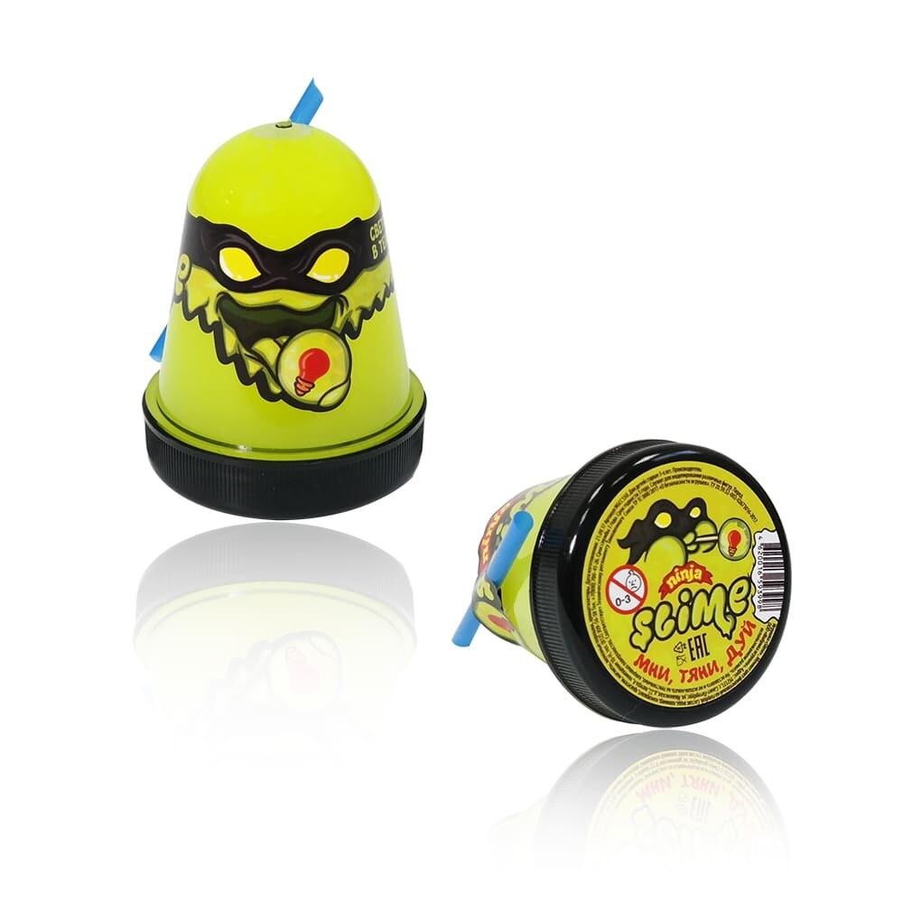 "Slime ""Ninja"", Желтый, светится в темноте 130 гр."
